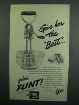 1951 Ekco Flint Best Mixer Ad - Give Her the Best - $14.99