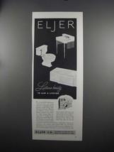 1951 Eljer Plumbing Fixtures Ad - Lustrous-Beauty - $14.99