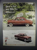 1949 Ford Car Ad - Drive and Feel the Difference - $14.99