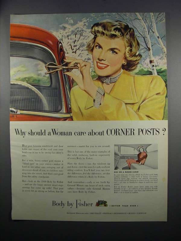 Primary image for 1949 General Motor Body by Fisher Ad - Woman Care