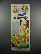 1949 Kraft Miracle Whip Salad Dressing Ad - Pear  - $14.99