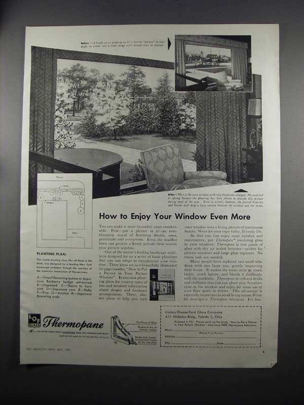 Primary image for 1951 Libbey-Owens-Ford Thermopane Glass Ad - Enjoy More