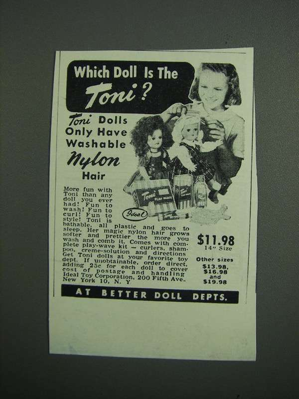 Primary image for 1951 Toni Dolls Ad - Which Doll is the Toni?