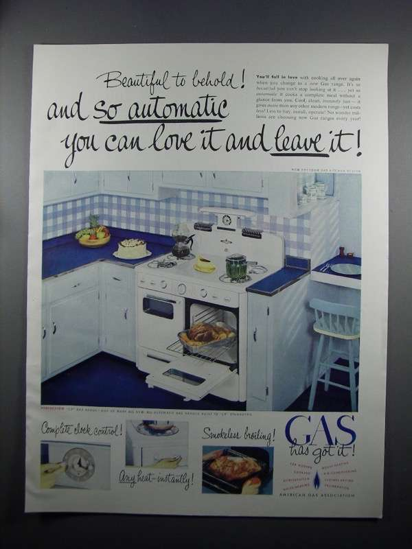 Primary image for 1950 American Gas Association Ad - CP Gas Range