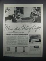 1950 Coleman Floor Furnace Ad - Warmer Floors - $14.99