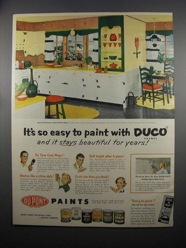 Primary image for 1953 Du Pont DUCO Paint Ad - It's So Easy