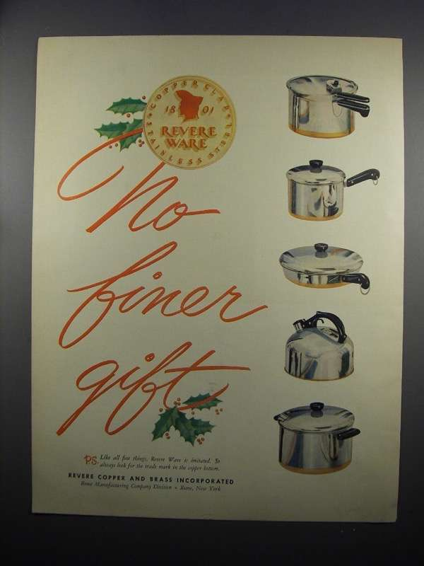 Primary image for 1950 Revere Ware Ad - No Finer Gift