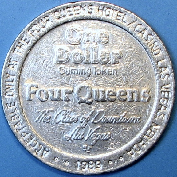 Primary image for $1 Casino Token. Four Queens, Las Vegas, NV. 1989. D45.