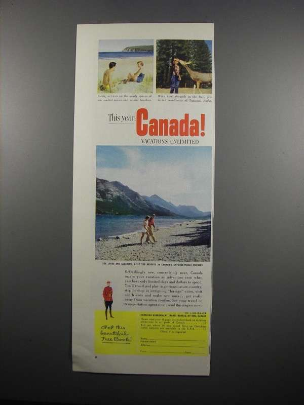 Primary image for 1954 Canada Tourism Ad - This Year