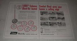 1954 Coleman Blend-Air Central Heating & Air Ad - $14.99