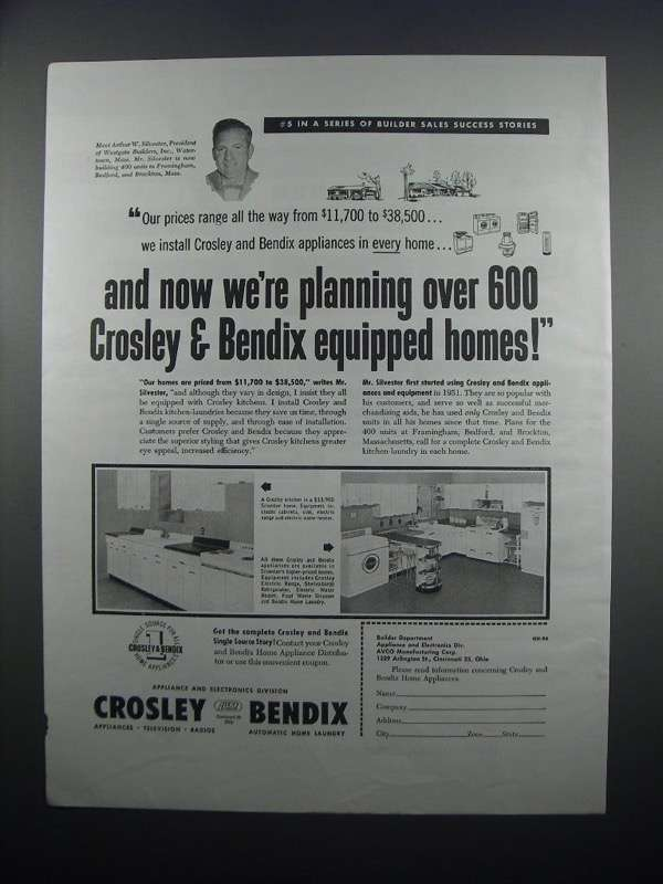 Primary image for 1954 Crosley & Bendix Appliances Ad - We're Planning