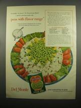 1954 Del Monte Sugar Peas Ad - Hot Potato Salad Crown - $14.99