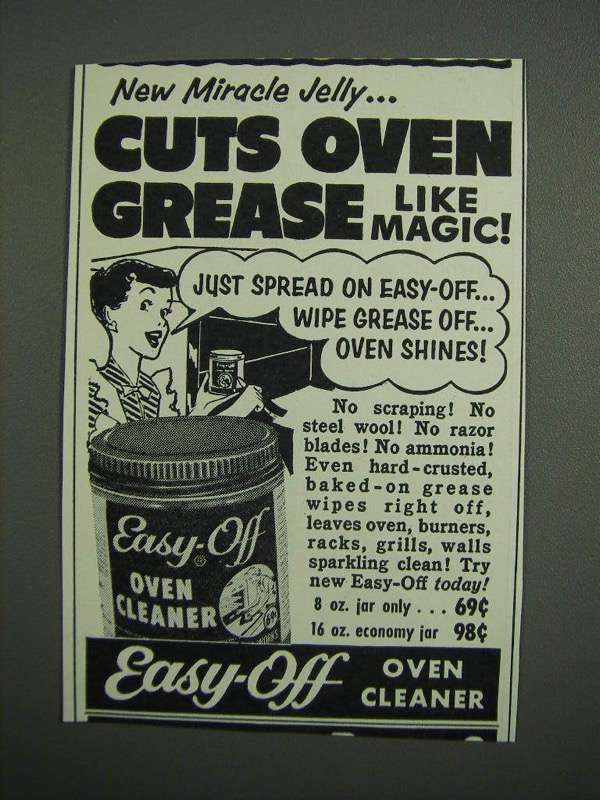 Primary image for 1954 Easy-Off Oven Cleaner Ad - New Miracle Jelly