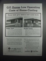 1954 G.E. Air-Wall System Heating & Cooling Ad - Low Operating Costs - $14.99