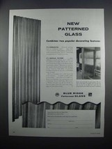 1954 Libbey-Owens-Ford Blue Ridge Patterned Glass Ad - Popular Decorating - $14.99
