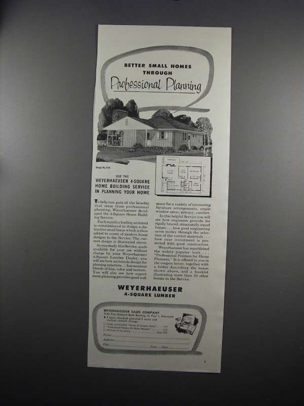 Primary image for 1951 Weyerhaeuser Lumber Ad - House Design 5140