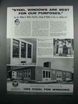 1954 USS Steel Ad - Steel Windows Are Best - $14.99