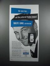 1954 Waste King SH7000 Pulverator Garbage Disposer Ad - $14.99