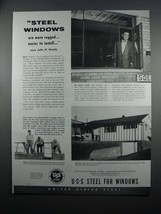 1954 United States Steel Windows Ad - More Rugged - $14.99
