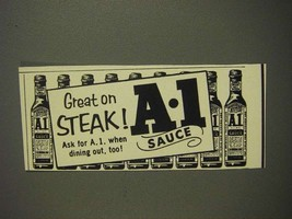 1955 A.1. Sauce Ad - Great on Steak - $14.99