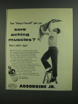 1955 Absorbine Jr. Ad - Sore Aching Muscles? - $14.99
