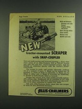 1955 Allis-Chalmers Scraper Ad - Snap-Coupler - $14.99
