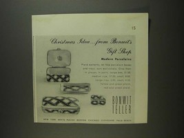 1955 Bonwit Teller Porcelain Boxes Ad - Christmas Idea - $14.99