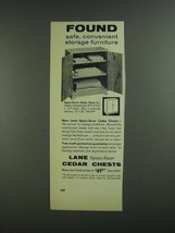 1955 Lane Space-Saver Cedar Chest Ad - Found - $14.99