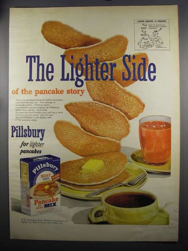 Primary image for 1952 Pillsbury Best Pancake Mix Ad - The Lighter Side