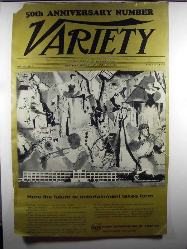 Primary image for 1956 Front Cover of Variety featuring RCA Advertisement