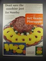 1953 Del Monte Pineapple Ad - Don't Save Sunshine - $14.99