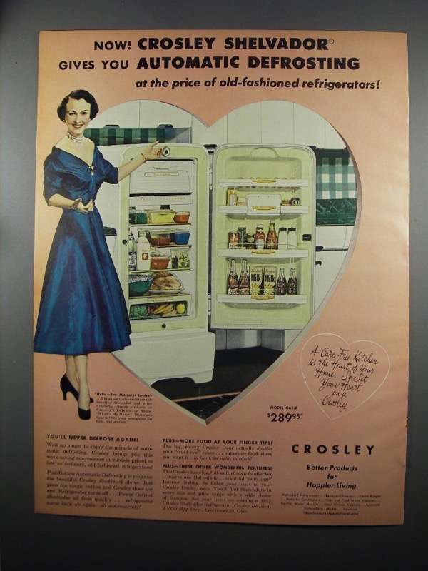 Primary image for 1953 Crosley Shelvador Refrigerator Ad - M. Lindsay