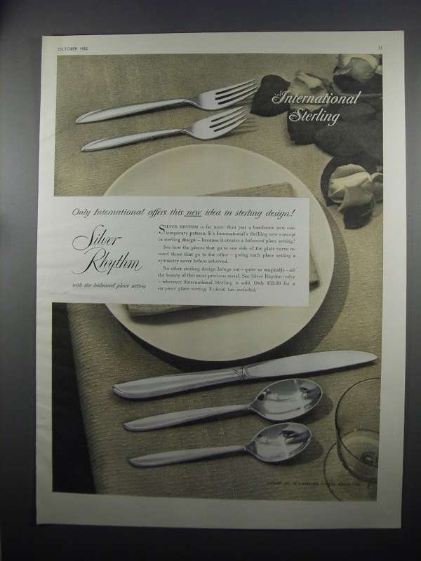 Primary image for 1953 International Sterling Silver Rhythm Ad