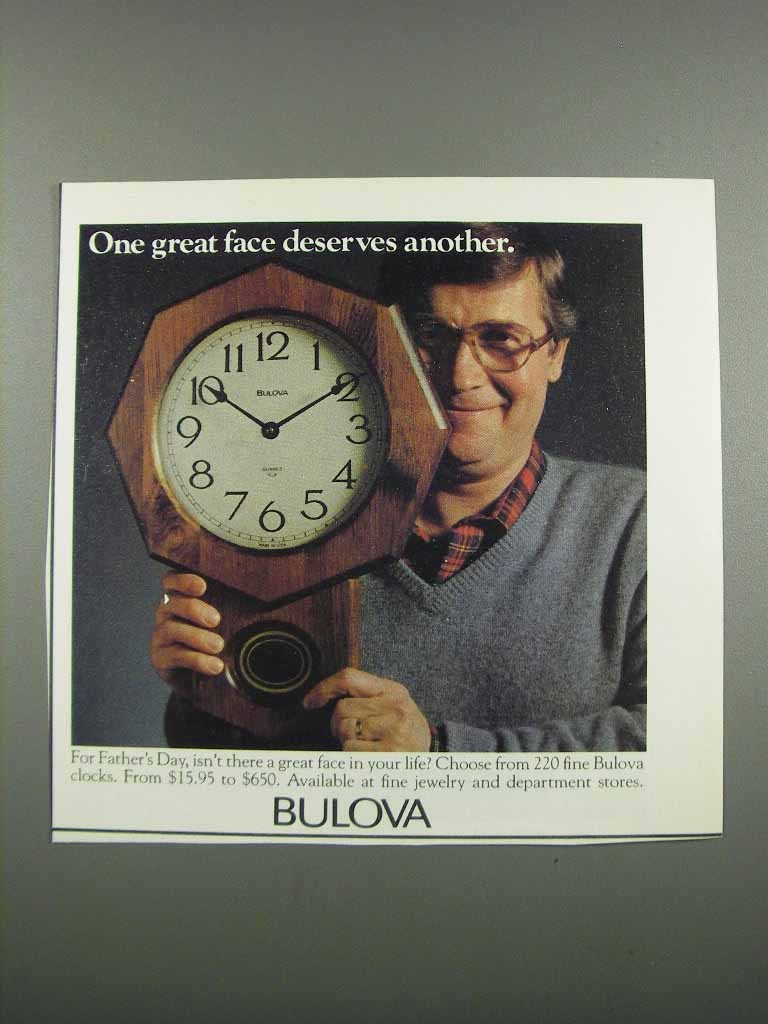 Primary image for 1983 Bulova Clock Ad - One Great Face Deserves