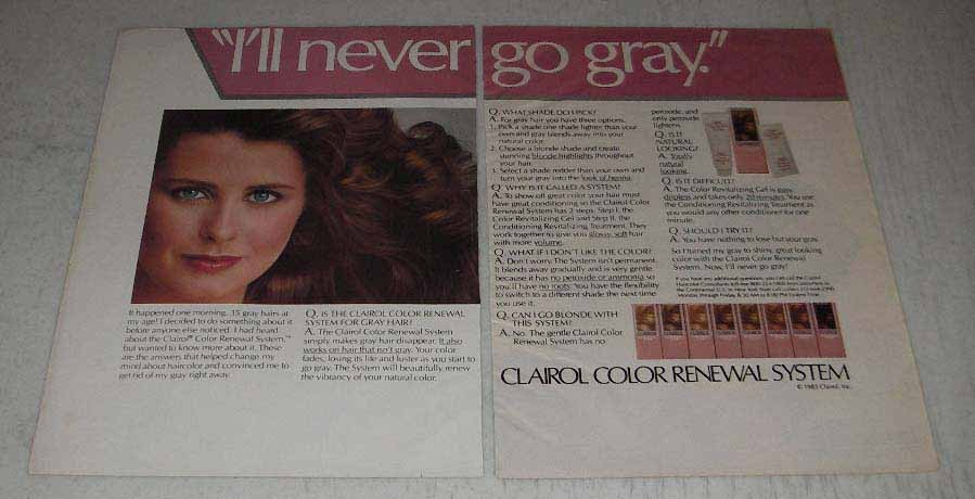 Primary image for 1983 Clairol Color Renewal System Ad - Never go Gray