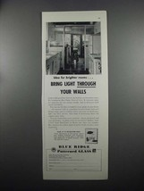 1953 Libbey-Owens-Ford Blue Ridge Patterned Glass Ad - $14.99