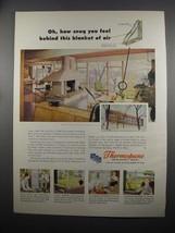 1953 Libbey-Owens-Ford Thermopane Insulating Glass Ad - Snug - $14.99