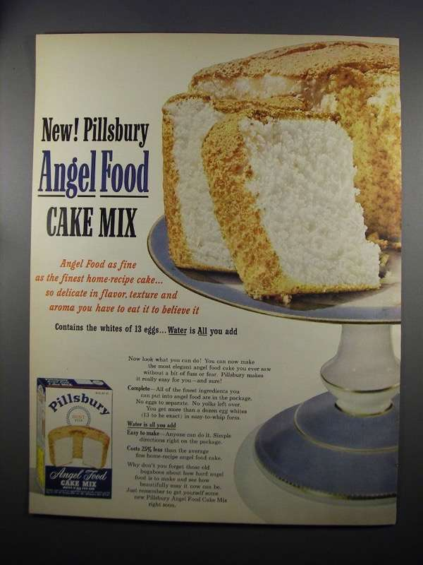 Primary image for 1953 Pillsbury Angel Food Cake Mix Ad