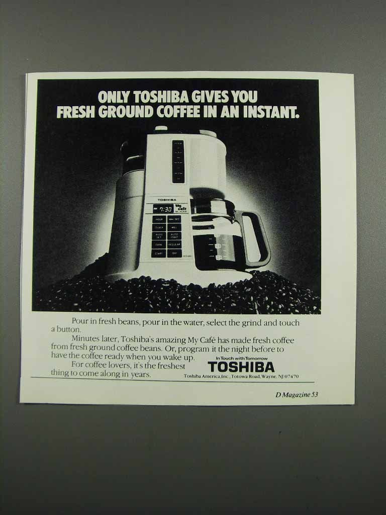 Primary image for 1983 Toshiba My Caf_ Coffee Maker Ad - In an Instant
