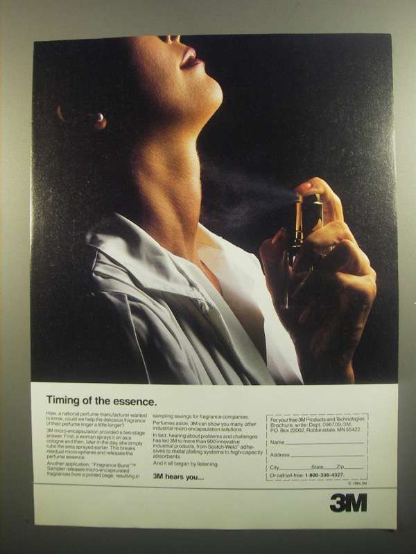 Primary image for 1984 3M Micro-Encapsulation Solutions Ad - Essence