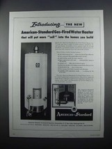 1954 American-Standard Gas-Fired Water Heater Ad - $14.99