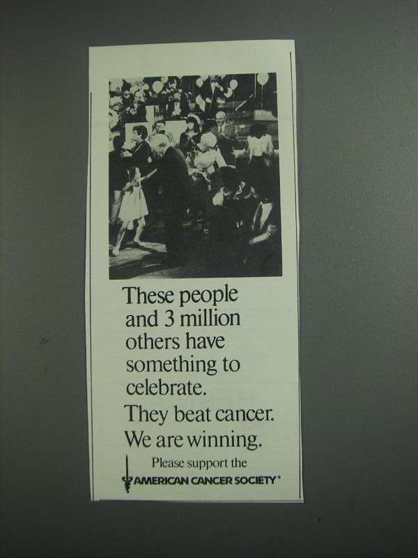 Primary image for 1984 American Cancer Society Ad - To Celebrate