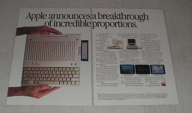 Primary image for 1984 Apple IIC Personal Computer Ad - Breakthrough