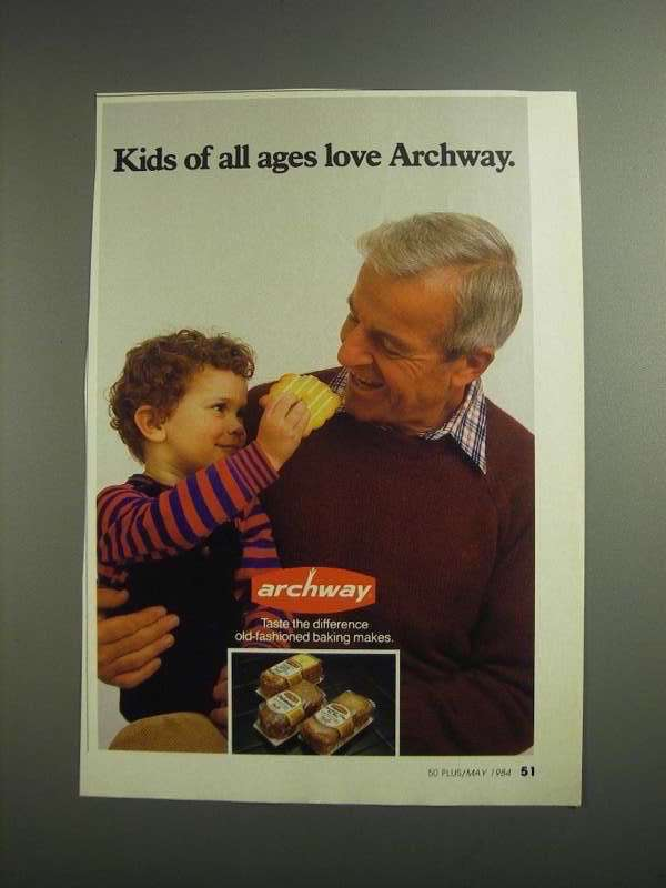 Primary image for 1984 Archway Cookies Ad - Kids of All Ages