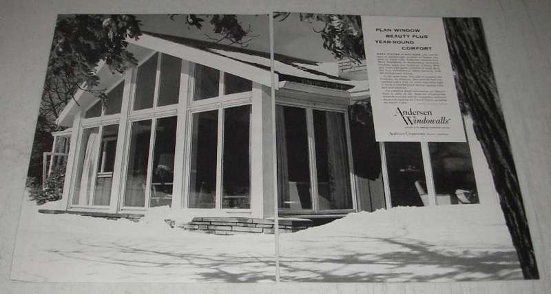 Primary image for 1954 Andersen Windowalls Ad - Year Round Comfort