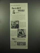 1954 Black & Decker Ad - Utility Drill, Saw - $14.99