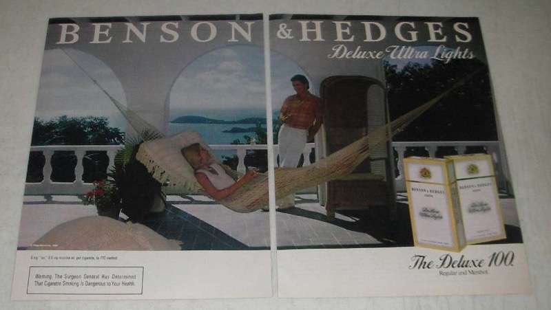 Primary image for 1984 Benson & Hedges Cigarettes Ad - Ultra Lights