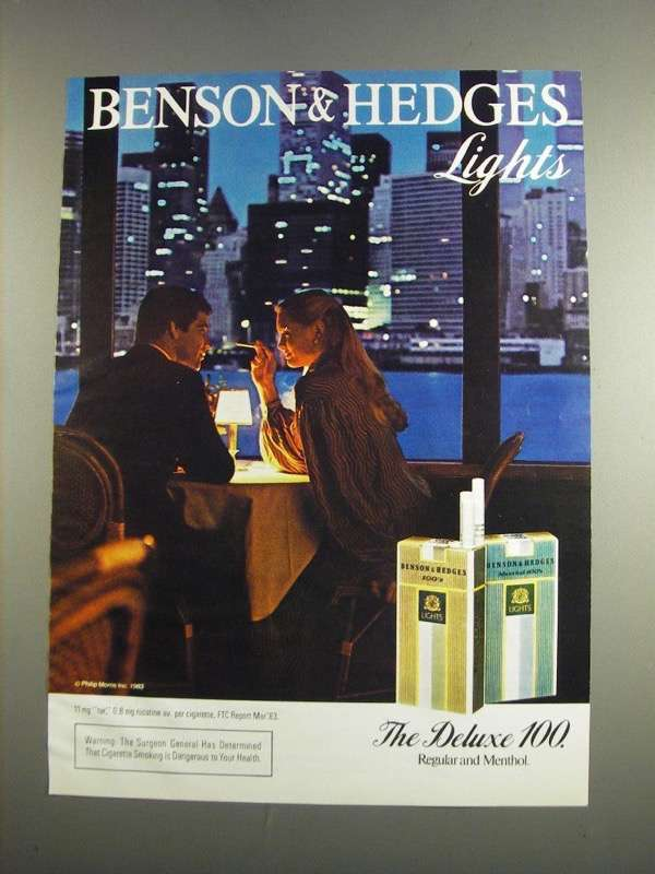 Primary image for 1984 Benson & Hedges Lights Cigarettes Ad - City