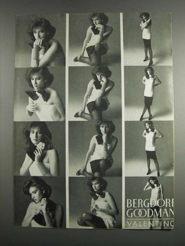 Primary image for 1984 Bergdorf Goodman Valentino Fashion Ad
