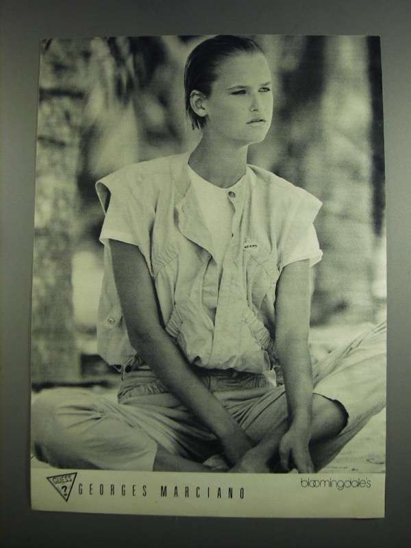 1984 Bloomingdale's Guess ? Georges Marciano Fashion Ad - $14.99